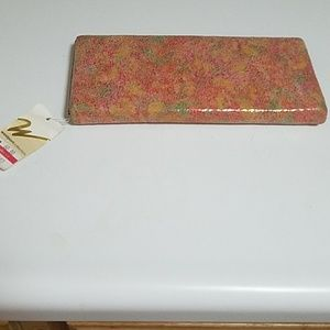 Floral Coral Wallet/Clutch